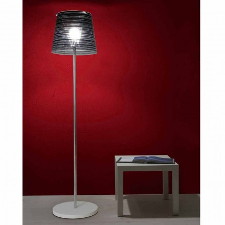 Modern design floor lamp Shana with anti-reflex lamp shade, H 183 cm