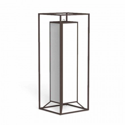 Outdoor Floor Lantern in Colored Steel, Luxury Led - Cleo by Talenti