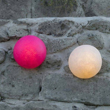 Design wall lamp In-es.artdesign Button in colored nebulite