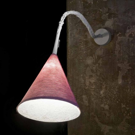 Designer wall lamp In-es.artdesign Jazz A Stripe colored wool