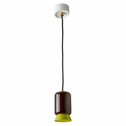 Suspension lamp in colored ceramic made in Italy Asia