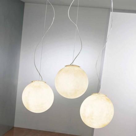 Suspension design lamp In-es.artdesign Tre Lune in nebulite