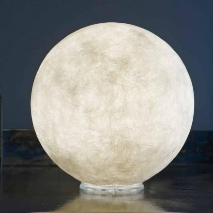 Table design lamp In-es.artdesign T.moon in white nebulite