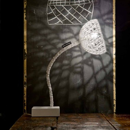 Table design lamp In-es.artdesign T2 texture flexible stem