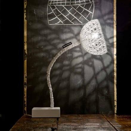 Table design lamp In-es.artdesign T2 texture flexible stem