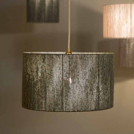 Suspended design lamp with d.45 in wool produced in Italy Evita