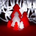 Decorative outdoor Christmas tree lamp Slide Lightree, made in Italy