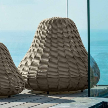 Large Lamp with modern design Jackie by Talenti in synthetic cord