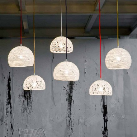 Lamp in cotton and viscose suspended In-es.artdesign Modern texture