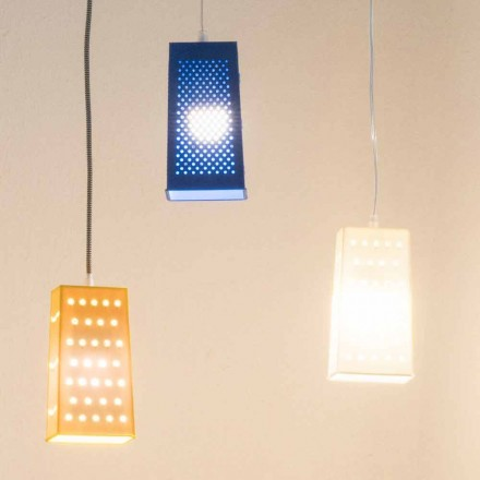 Suspended laprene lamp In-es.artdesign Cacio & Pepe 2 colored