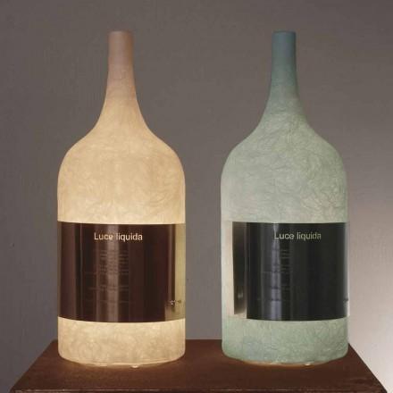 Table lamp in colored nebulite In-es.artdesign Luce Liquid1
