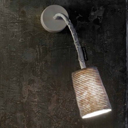 Modern wall lamp In-es.artdesign Paint A Stripe nebulite and wool