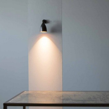 Modern Artisan Wall Lamp in Iron and Aluminum Made in Italy - Conical