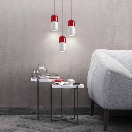 Modern pendant lamp in two-color ceramic made in Italy Asia