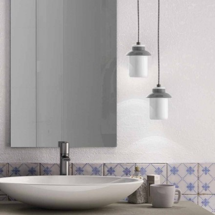Modern pendant lamp in colored ceramic made in Italy Asia