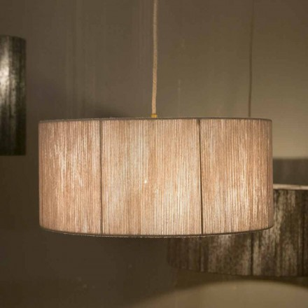 Modern pendant lamp in wool made in Italy Evita