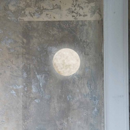 Modern wall lamp In-es.artdesign A. Moon in nebulite