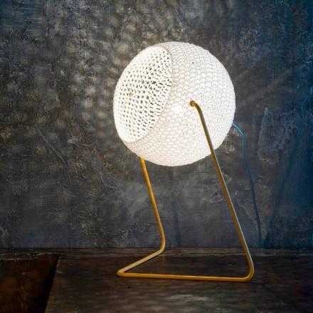 Modern table lamp In-es.artdesign Handmade cotton T1 texture