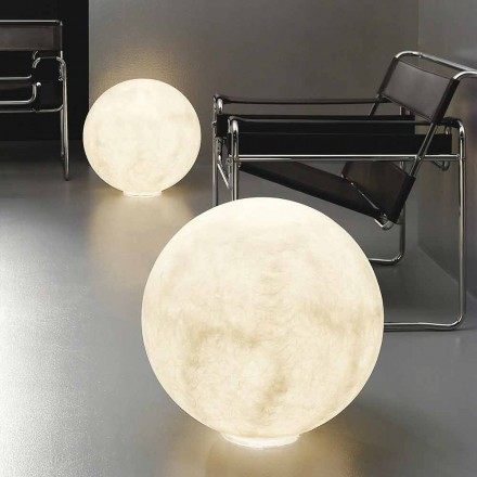 Modern spherical table lamp In-es.artdesign Floor Moon nebulite