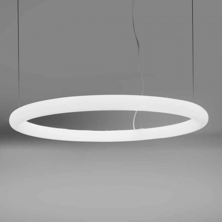Round LED Suspension Lamp in Polyethylene Made in Italy - Slide Giotto