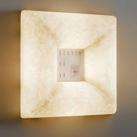 White nebulite wall lamp In-es.artdesign Dada Luna 1 design