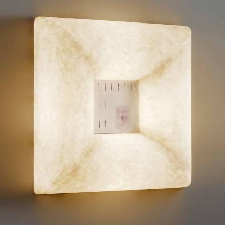 White nebulite wall lamp In-es.artdesign Dada Luna 1 design
