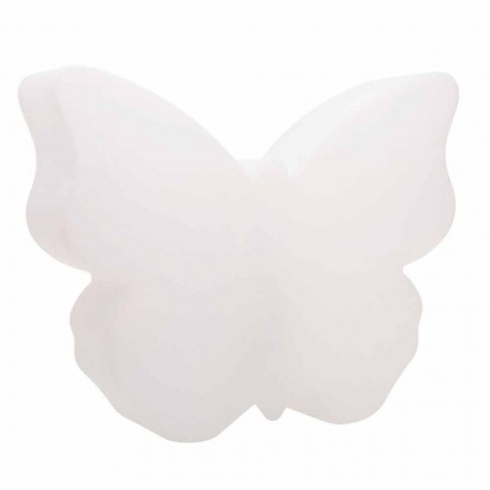 Table or Floor Lamp for Indoor or Outdoor, White Butterfly - Farfallastar
