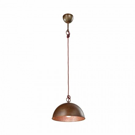 Made in Italy rustic pendant light Galileo Ø40 cm Il Fanale