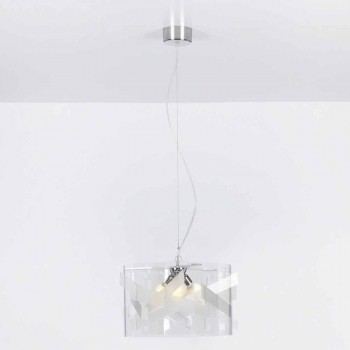 Lamp suspension 3 lights methacrylate specrall diam.75 cm Nicole