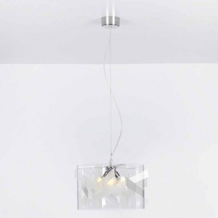 3-light pendant lamp Nicole, made of methacrylate, spectrall finish