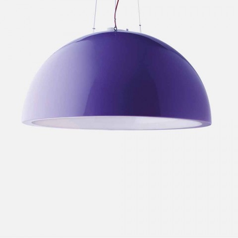 Colored suspension lamp Slide Cupole polyethylene made in Italy