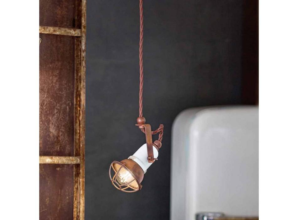 adjustable pendant lamp ceramic and metal Alayna Ferroluce
