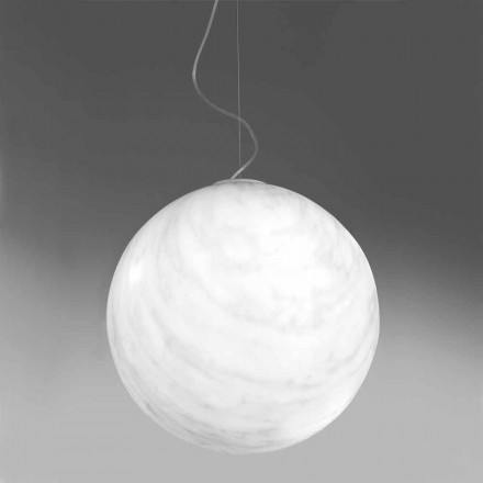 Modern suspended ball lamp in polyethylene Slide Mineral made in Italy