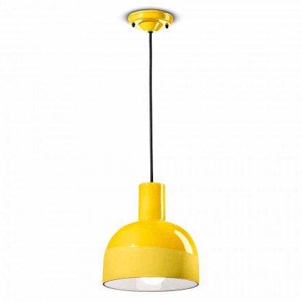 Modern Style Hanging Lamp in Ceramic Made in Italy - Ferroluce Caxixi