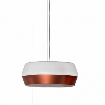 Design Suspended Lamp with Metal and Resin Structure Made in Italy - Pika