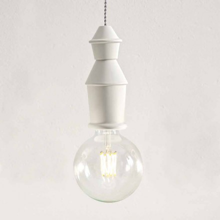 Shabby Chic Ceramic Hanging Lamp - Fate by Aldo Bernardi