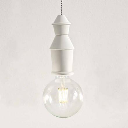 Shabby Chic Ceramic Hanging Lamp - Fate by Aldo Bernardi