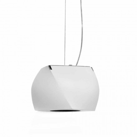 Suspended Design Lamp in Metal and White Resin Made in Italy - Beijing