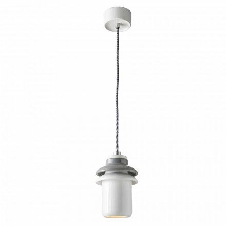 Suspended lamp of modern design in ceramic made in Italy Asia