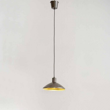 Suspension Lamp in Antique Steel Diameter 310 mm - Materia Aldo Bernardi