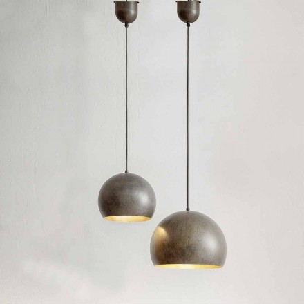 Suspended Lamp in Steel Diameter 300 or 400 mm - Materia Aldo Bernardi