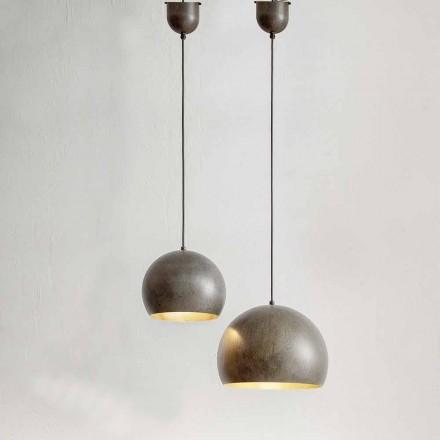 Suspended Lamp in Steel Diameter 300 or 400 mm - Materia Aldo Bernardi