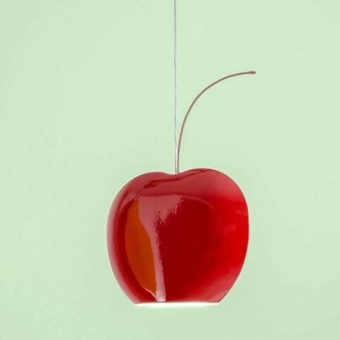 Suspended Lamp in Cherry Ceramic - Fruits Aldo Bernardi
