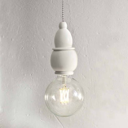 Shabby Chic Ceramic Hanging Lamp with 3m Cable - Fate Aldo Bernardi