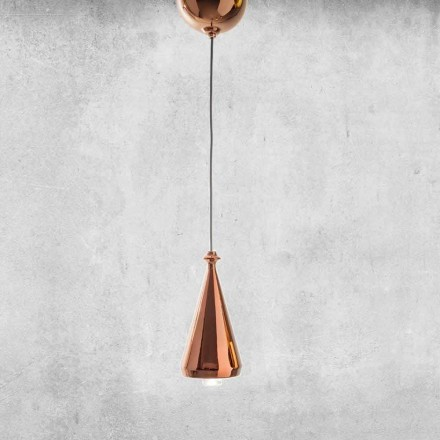 Design LED Suspended Lamp in Ceramic - Lustrini L2 Aldo Bernardi