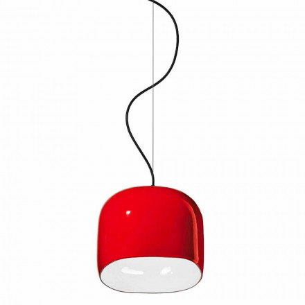 Modern Style Suspension Lamp in Ceramic Made in Italy - Ferroluce Ayrton