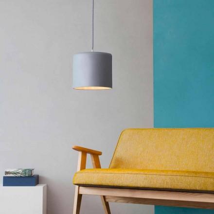 Modern suspended lamp In-es.artdesign Candle 2 in colored laprene