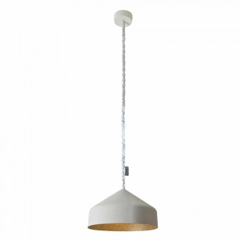 Contemporary suspended lamp In-es.artdesign Cyrcus Painted cement
