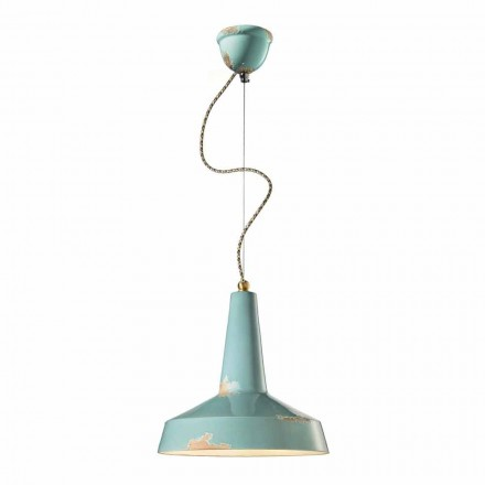 Retro style pendant light made in Italy by Ferroluce