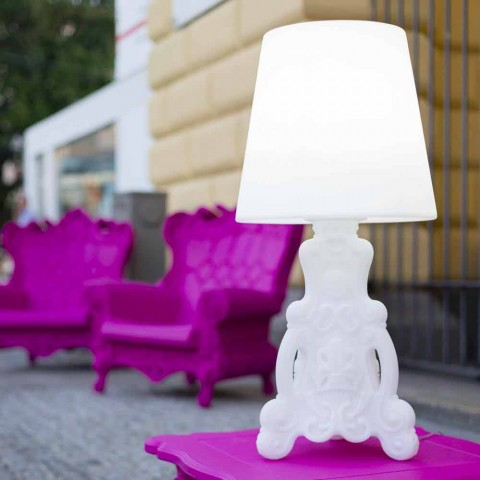 Slide Lady of Love table lamp of luminous design made in Italy